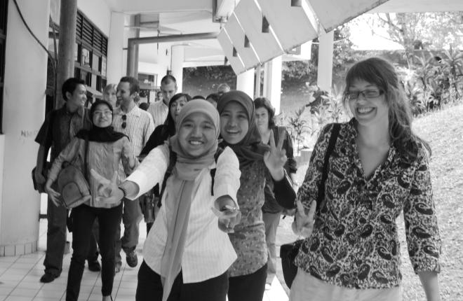 Front (L-R): Kak Manda, me, and Tanja